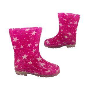 Rain Boots Aussie Gumboot Splash Sparkle Pink 4-13